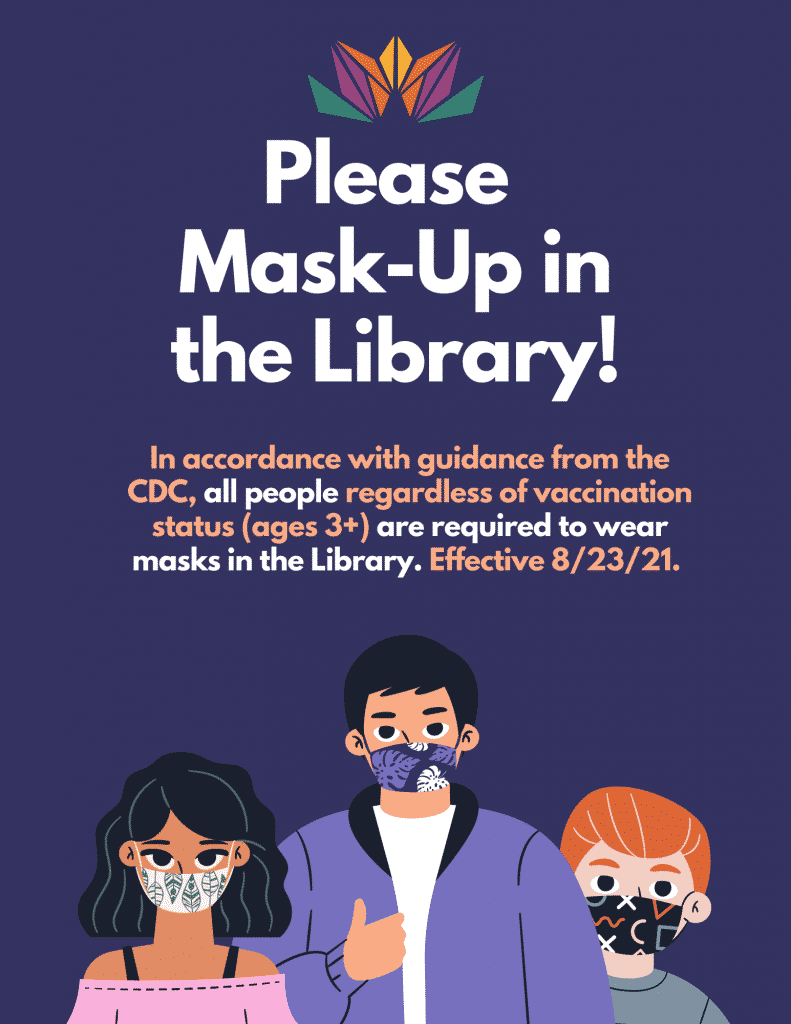 mask up at the library